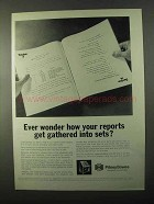 1971 Pitney-Bowes Thomas Collators Ad - Your Reports
