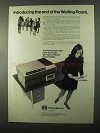 1971 Pitney-Bowes 262 Desk-Top Copier Ad - Waiting Room