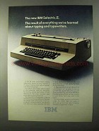 1971 IBM Selectric II Typewriter Ad - The Result
