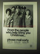 1971 U.S. Mail Ad - Help Bring You Christmas