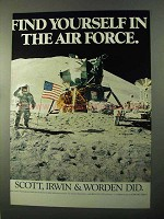 1971 U.S. Air Force Ad - Scott, Irwin & Worden Did