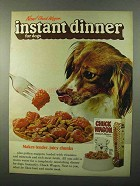 1971 Chuck Wagon Instant Dinner Dog Food Ad - Tender