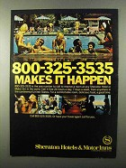 1971 Sheraton Hotels Ad - Makes It Happen