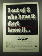 1971 Heart Association Ad - 1 Out Of 2 Don't Know It
