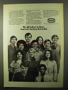 1971 Texaco Oil Ad - We Still Believe In Them