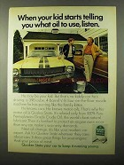 1971 Quaker State Motor Oil Ad - Kid Starts Telling You
