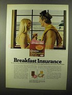 1971 Carnation Instant Breakfast Ad - Insurance