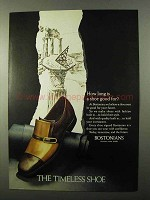 1971 Bostonians Shoes Ad - How Long is a Shoe Good For