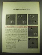 1971 Western Electric Ad - Spots Dots With TV