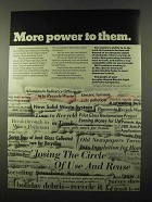 1971 Investor-Owned Electric Light and Power Ad - More Power