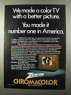 1971 Zenith TV Ad - We Made Color With Better Picture