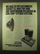 1971 JCPenney Model 1981 Stereo Ad - Automatic Shut-Off