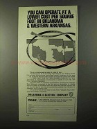 1971 Oklahoma Gas and Electric Company Ad - Lower Cost