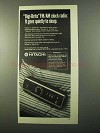 1971 Hitachi Digi-Brite Clock Radio Ad - Quietly Sleep