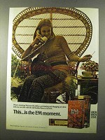 1971 L&M Cigarettes Ad - This is the L&M Moment