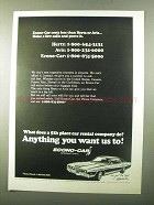 1971 Econo-Car Car Rental Ad - What Does 5th Place Do?