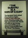 1971 Subaru Car Ad - Is a Son of a Gun