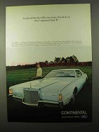 1972 Lincoln Continental Mark IV Ad - Unique American