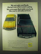 1971 Hertz Rent-a-Car Ad - Look Like You've Arrived