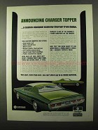 1971 Dodge Charger Topper Ad - Announcing
