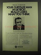 1971 Chrysler Corporation Ad - Your Man in Detroit