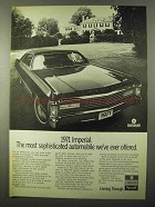 1971 Chrysler Imperial Ad - Most Sophisticated