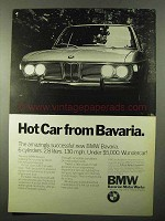 1971 BMW Bavaria Car Ad - Hot Car From Bavaria