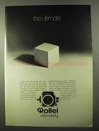 1971 Rollei SL66 Camera Ad - The Ultimate