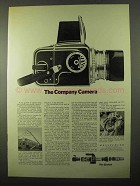 1971 Hasselblad 500 CM Camera Ad - Company Camera