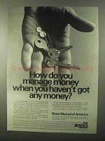 1971 State Mutual of America Ad - Manage Money