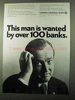 1971 Virginia National Bank Ad - Wanted by 100 Banks