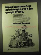 1971 Continental Assurance Ad - Group Insurance Tax