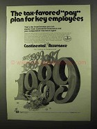 1971 Continental Assurance Ad - Tax-Favored Pay Plan