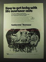 1971 Continental Assurance Ad - Get Lucky With Costs