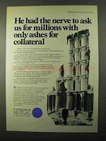 1971 Connecticut Mutual Ad - Ashes for Collateral
