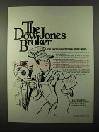 1971 Dow Jones Ad - Keeps Closer Track of the News