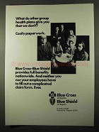 1971 Blue Cross Blue Shield Ad - Group Health Plans