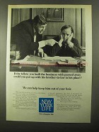 1971 New York Life Insurance Ad - His Brother-in-Law