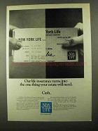 1971 New York Life Insurance Ad - One Thing Estate Need