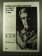 1971 U.S. Savings Bonds Ad - Takes More Than Memories