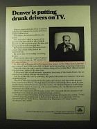 1971 State Farm Insurance ad - Drunk Drivers on TV