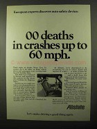 1971 Allstate Insurance Ad - Crashes Up to 60 MPH
