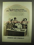 1971 Emery Air Freight Ad - The First Claim Arrives