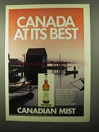 1971 Canadian Mist Whisky Advertisement - Canada At Its Best
