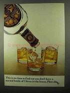 1971 Chivas Regal Scotch Ad - No Time to Find Out