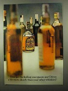 1971 Chivas Regal Scotch Ad - Guests See More Clearly