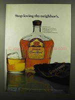 1971 Seagram's Crown Royal Whisky Ad - Stop Loving