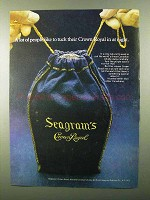 1971 Seagram's Crown Royal Whisky Ad - Tuck In at Night