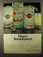 1971 Bacardi Rum Ad - Have a Bacardi Party