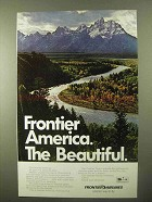 1971 Frontier airlines Ad - America The Beautiful